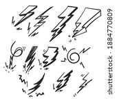 handdrawn doodle thunder...   Shutterstock .eps vector #1884770809