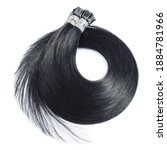 Small photo of Pre Bonded Straight Stick Tip (i-tip fusion) Black Human Hair Extensions
