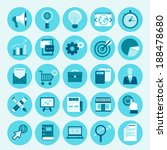 vector trendy icon set in flat... | Shutterstock .eps vector #188478680