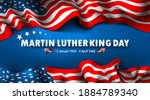 martin luther king day with... | Shutterstock .eps vector #1884789340