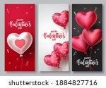 happy valentines day vector...   Shutterstock .eps vector #1884827716