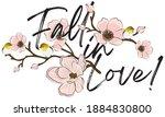vintage romantic happiness...   Shutterstock .eps vector #1884830800
