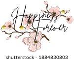 vintage romantic happiness...   Shutterstock .eps vector #1884830803