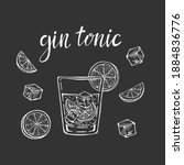 Gin Tonic Classic Cocktail Hand ...