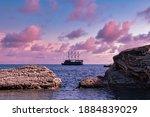 Sailing Ship Anchored Off The...