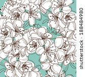 elegant seamless pattern with... | Shutterstock . vector #188484980