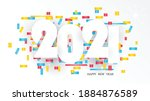 happy new year 2021 white text...