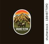 grand teton national park... | Shutterstock .eps vector #1884877090