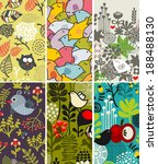 set of vertical cards with... | Shutterstock .eps vector #188488130