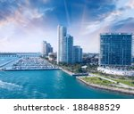 city of miami florida  colorful ... | Shutterstock . vector #188488529