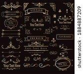 vintage retro vector elements...   Shutterstock .eps vector #1884887209