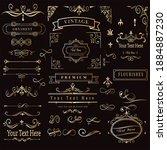 vintage retro vector elements...   Shutterstock .eps vector #1884887230