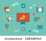 vector online concept  ... | Shutterstock .eps vector #188488964
