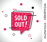 sold out label in red dynamic... | Shutterstock .eps vector #1884894166