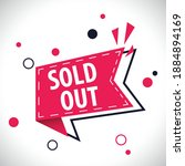 sold out label in red dynamic... | Shutterstock .eps vector #1884894169
