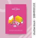 zero inbox concept women use...   Shutterstock .eps vector #1884900133