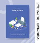 print invoice concept people... | Shutterstock .eps vector #1884900160