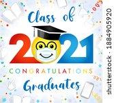 class of 2021 year graduating... | Shutterstock .eps vector #1884905920