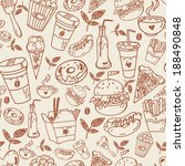 fast food pattern. | Shutterstock .eps vector #188490848