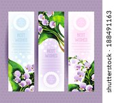 vector banners with purple... | Shutterstock .eps vector #188491163