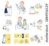 infectious disease preventive...   Shutterstock . vector #1884916129