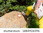 Woman Hiking Boot On An Old...