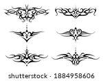 set of tribal tattoo for lower ... | Shutterstock .eps vector #1884958606