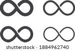 infinite icon set  vector line... | Shutterstock .eps vector #1884962740