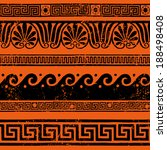 ancient greek border ornaments  ... | Shutterstock .eps vector #188498408