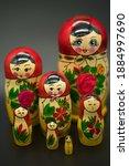 A Set Of 7 Matrioshka Dolls...