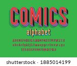 comic style vector font with... | Shutterstock .eps vector #1885014199