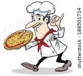 pizza chef | Shutterstock .eps vector #188501714