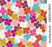 seamless vector repeat retro... | Shutterstock .eps vector #1885019893