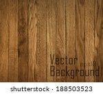 vector wood plank background | Shutterstock .eps vector #188503523