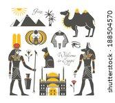 egypt set | Shutterstock .eps vector #188504570