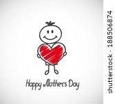 boy with big heart  cartoon... | Shutterstock .eps vector #188506874
