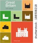 landmarks of great britain. set ... | Shutterstock .eps vector #188508218