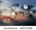polygonal world map and... | Shutterstock .eps vector #188512088