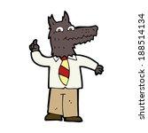 cartoon business wolf with idea | Shutterstock . vector #188514134