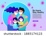 family smiling and staying...   Shutterstock .eps vector #1885174123