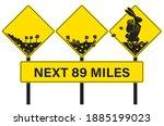 easter rabbit crossing alert...   Shutterstock .eps vector #1885199023
