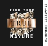 find your true nature slogan... | Shutterstock .eps vector #1885199413