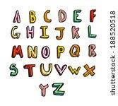 cartoon alphabet | Shutterstock . vector #188520518