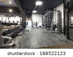 modern gym interior with... | Shutterstock . vector #188522123