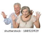 portrait of a happy older... | Shutterstock . vector #188523929