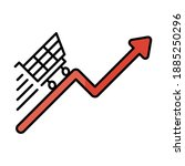 digital marketing and cart on...   Shutterstock .eps vector #1885250296