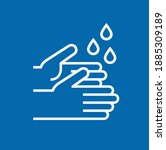 wash and washing hands to keep... | Shutterstock .eps vector #1885309189