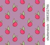 cherry fruit   seamless pattern ... | Shutterstock .eps vector #1885352746