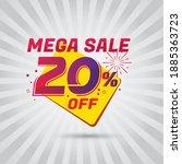 mega sale promotion banner... | Shutterstock .eps vector #1885363723