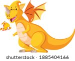 Colorful Baby Dragon In Cartoon ...